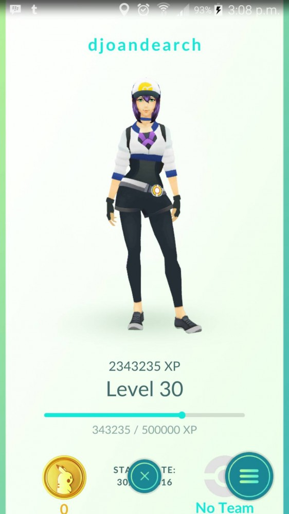 level 30 - female - no team