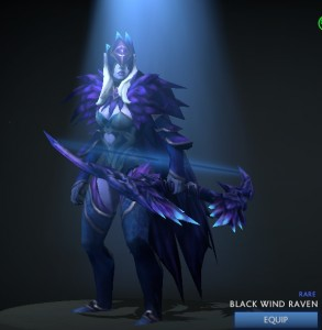 Black Wind Raven (Drow Ranger Set)