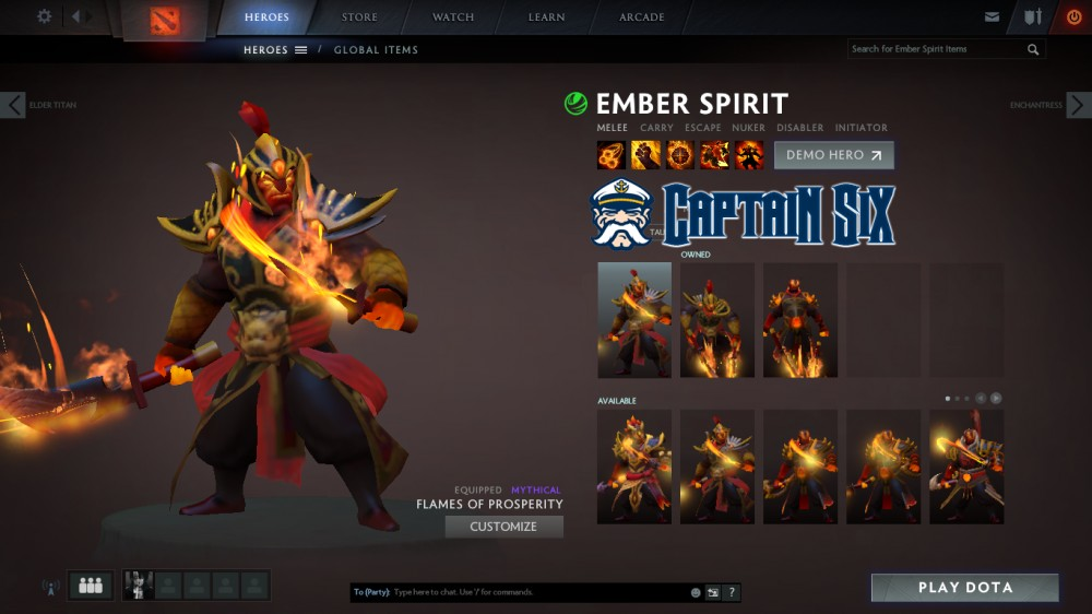 Flames of Prosperity (Ember Spirit Set)