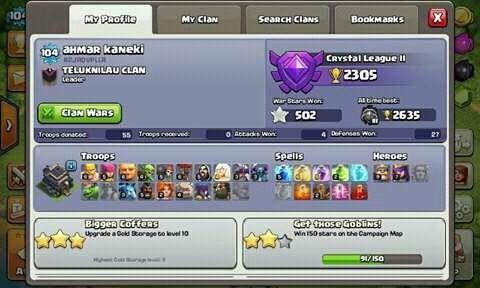 th 9 semi max/gems 2000+/bonus clan lev 5-6/prbadi