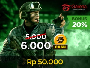 PB Garena Cash V50