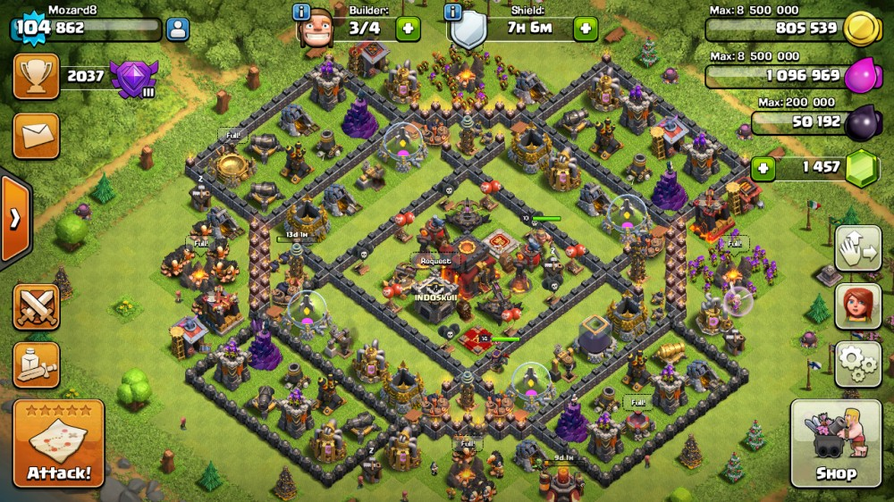 CLASH OF CLANS TH10 LVL104
