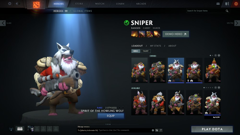 Spirit of the Howling Wolf (Sniper Set)