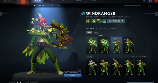 Array of Tranquility (Windranger Set)