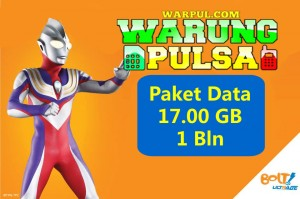 Paket Internet Bolt Super Flex 17 GB 24 Jam 1 Bln