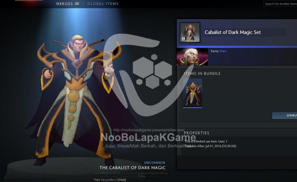 The Cabalist of Dark Magic ( Invoker Set )