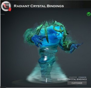 Radiant Crystal Bindings (Morphling Set)