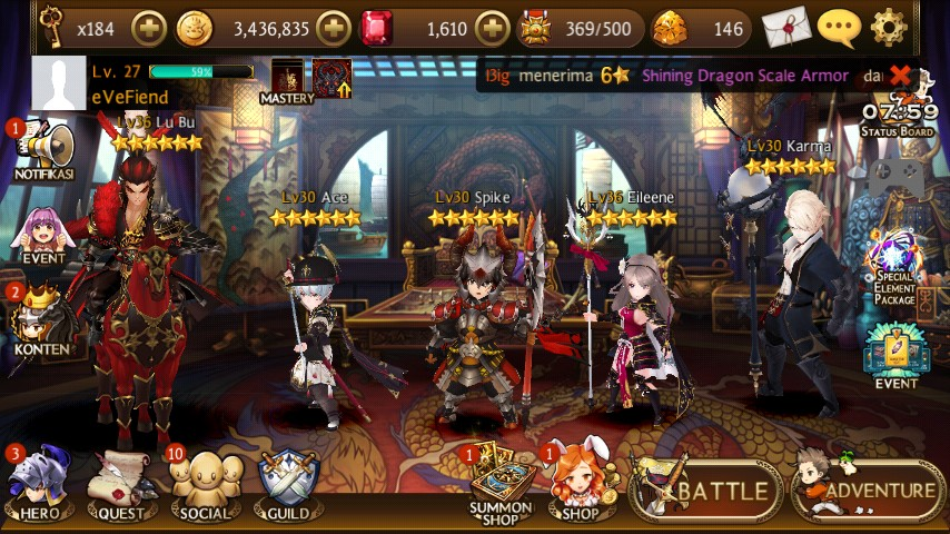 3 Seven Knights | 2 Four Lords | 1 Ex Four Lords