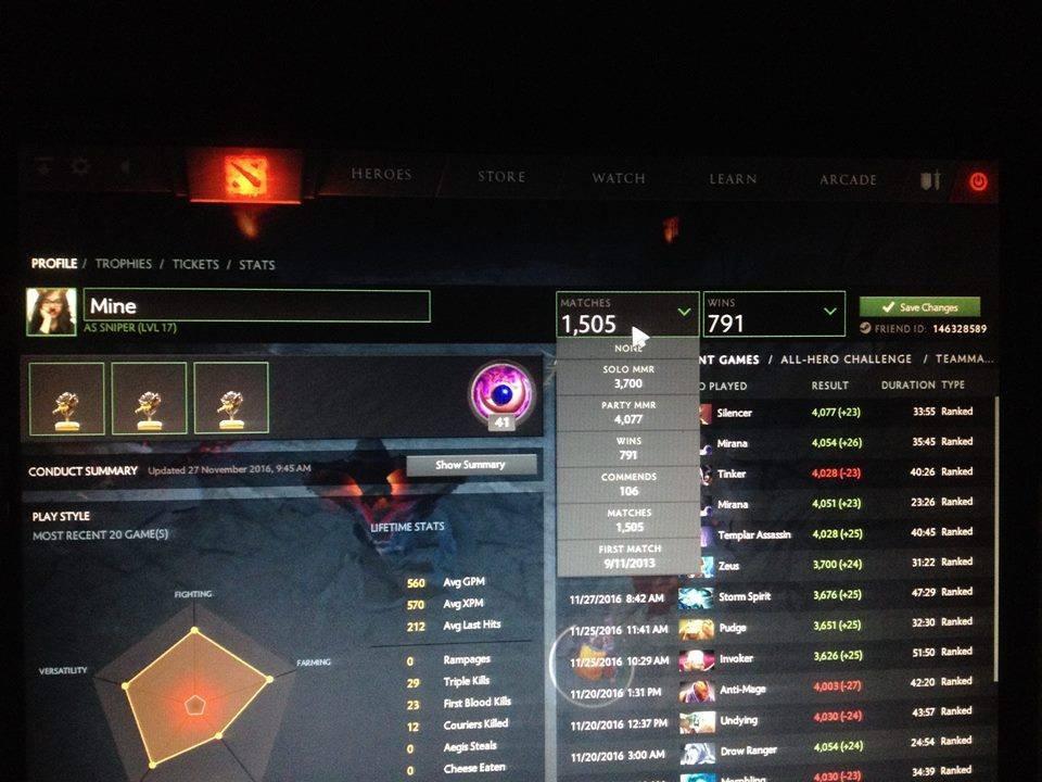 Jual ID DOTA2 MMR Solo 3.5+ Party 4K