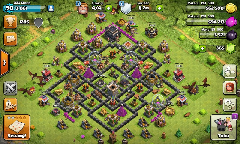 Clash Of Clans Town Hall : 9