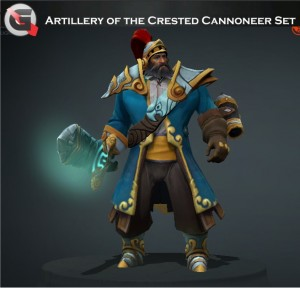 Artillery of the Crested Cannoneer Set (Kunkka Set)