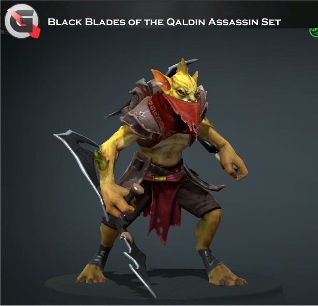 Black Blades of the Qaldin Assassin (Bounty Hunter Set)