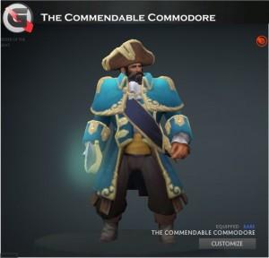 The Commendable Commodore Set (Kunkka Set)