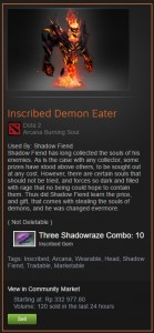 Inscribed Demon Eater (Arcana Shadow Fiend)