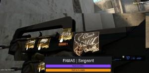 StatTrak™ FAMAS | Sergeant + STICKER RARE