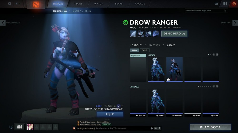 Gifts of the Shadowcat (Drow Ranger Set)