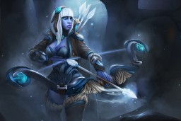 The Frostborne Wayfarer (Drow Ranger Set)
