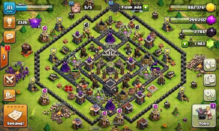 Clash Of Clans TH 9 Builder 5 Level 111 CN OFF