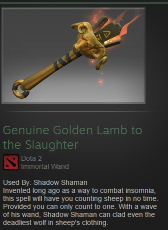 Genuine Golden Lamb to the Slaughter (Immortal Shadow Shaman)