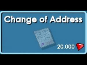 Change of Adress