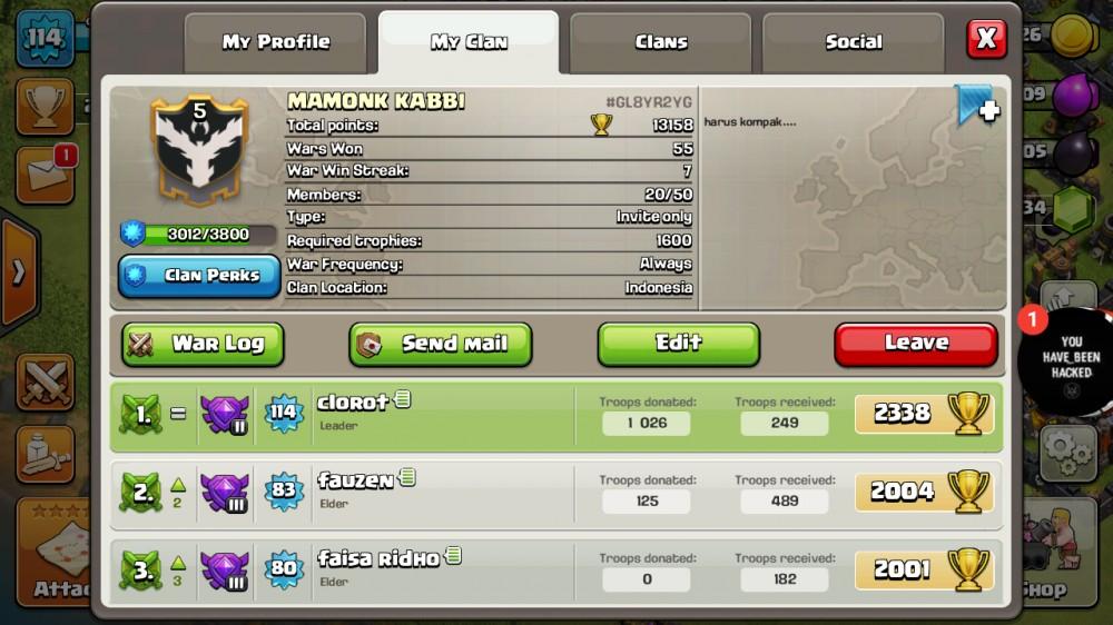 Clan Lv 5 Murah Dan Mantep
