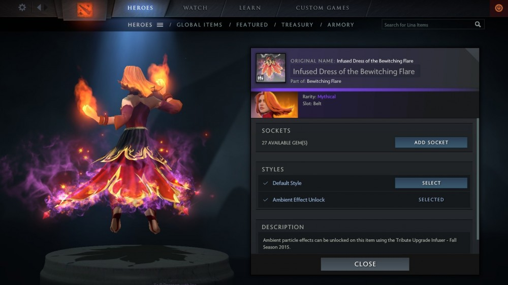 Dress of the Bewitching Flare (Lina)