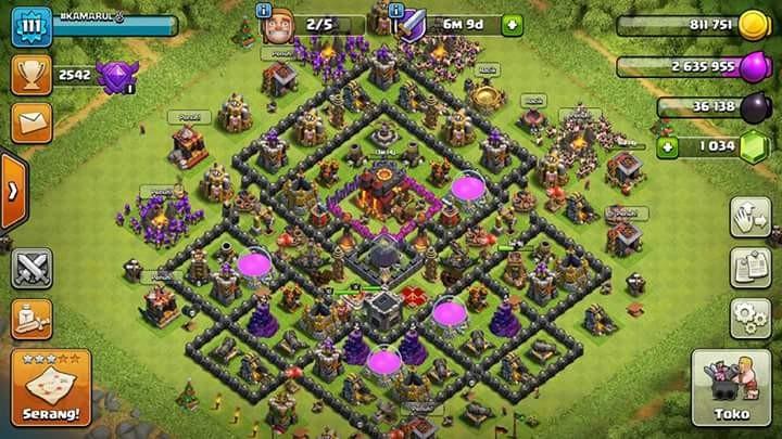 Clash OF Clans TH 10 Semi Builder 5 Gems Lumayan