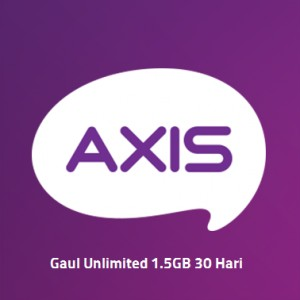 Paket Data Axis Gaul Unlimited 1.5GB 30 Hari