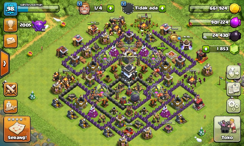 Clash Of Clans Town Hall 9 Murah !!