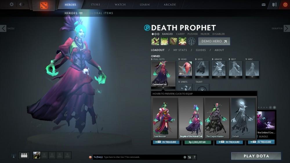 Regalia of the Mortal Coil (Death Prophet Set)