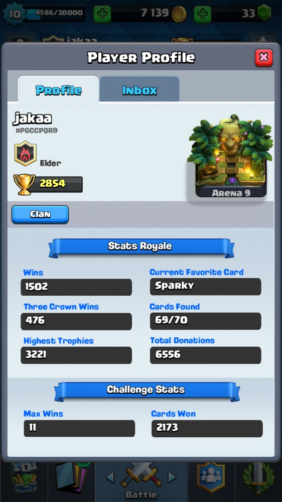 Arena 9 lvl 10 card full,- legend 9biji