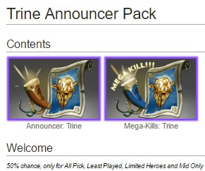 Trine Announcer Pack