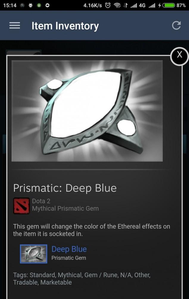 Prismatic gem : Deep Blue