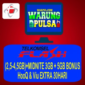 Paket Internet Telkomsel Flash 2,5GB-4,5GB
