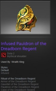 Infused Pauldron of the Dreadborn Regent (Wraith King)