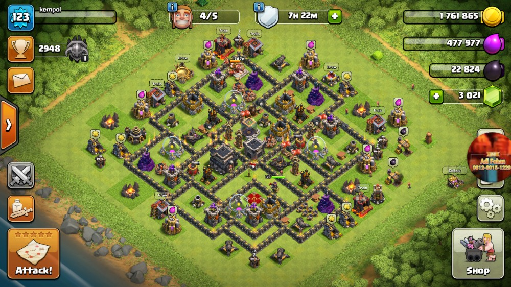 Town Hall 9 Max Gems 3.021