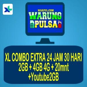 XL Combo Extra 2GB+4GB4G+20mnt+ youtube2GB