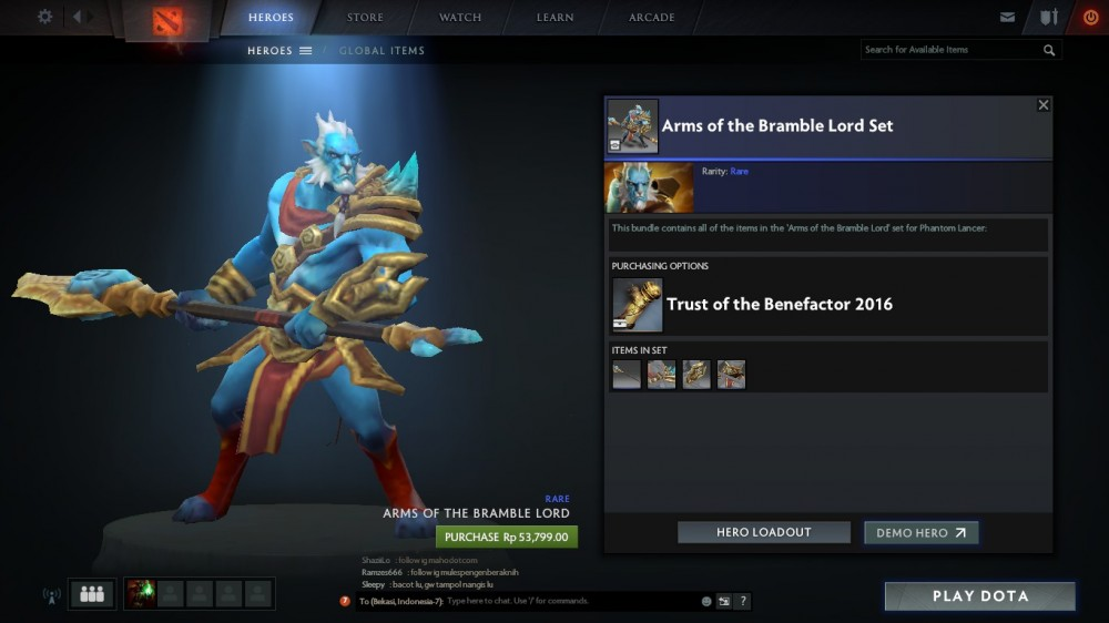 Arms of the Bramble Lord Set bundle