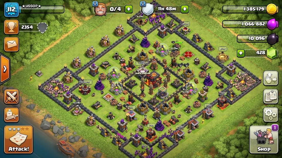 Clash Of Clans TownHall 10 Semi Max