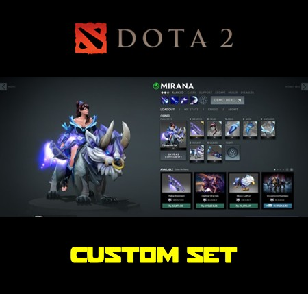 jual mirana custom set game dota 2 itemku