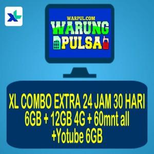 PAKET XL COMBO EXTRA 18GB +60mnt all+yotube6GB