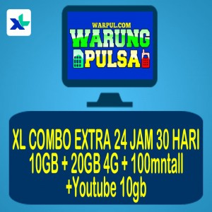 PAKET XL COMBO EXTRA 30GB +100mntall+utub10gb