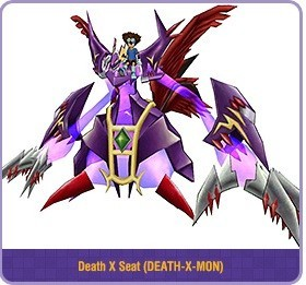 Death x Seat (Riding Dexdorugamon)