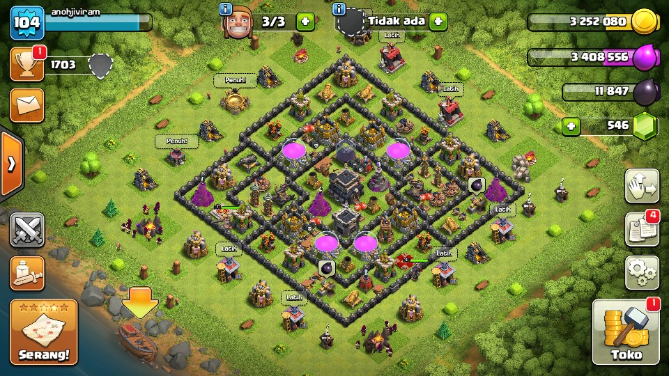 Jual MAX Town Hall 9 GG game Clash of Clans | itemku