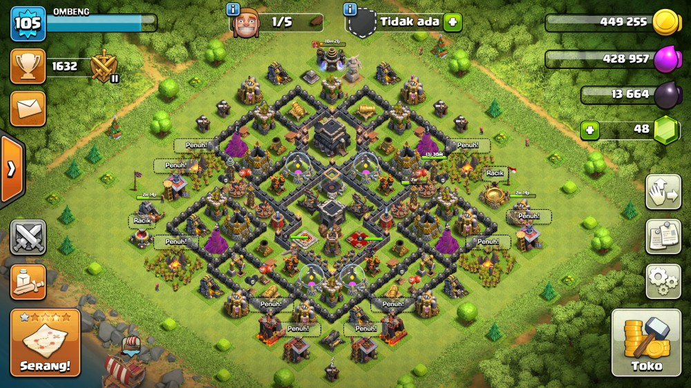 Town Hall 9 Wall GG Hero 8-8