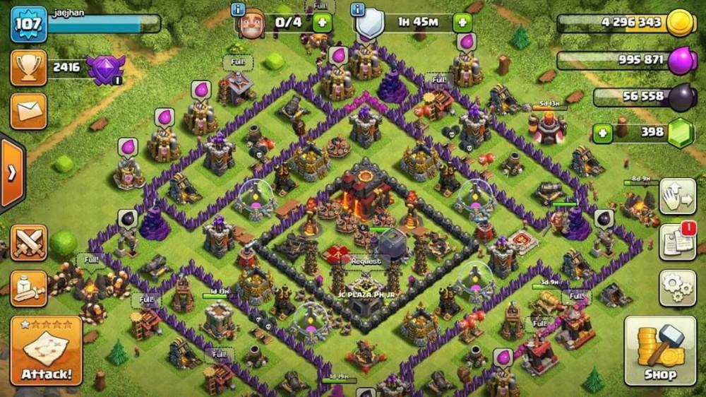Townhall 10 Bisa ganti nama + Clan lvl 8