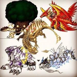 Holybeast and Dracomon