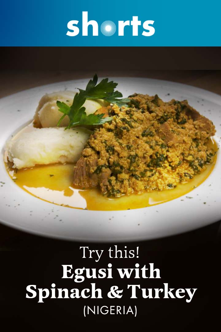 Try This! Egusi With Spinach and Turkey, Nigeria