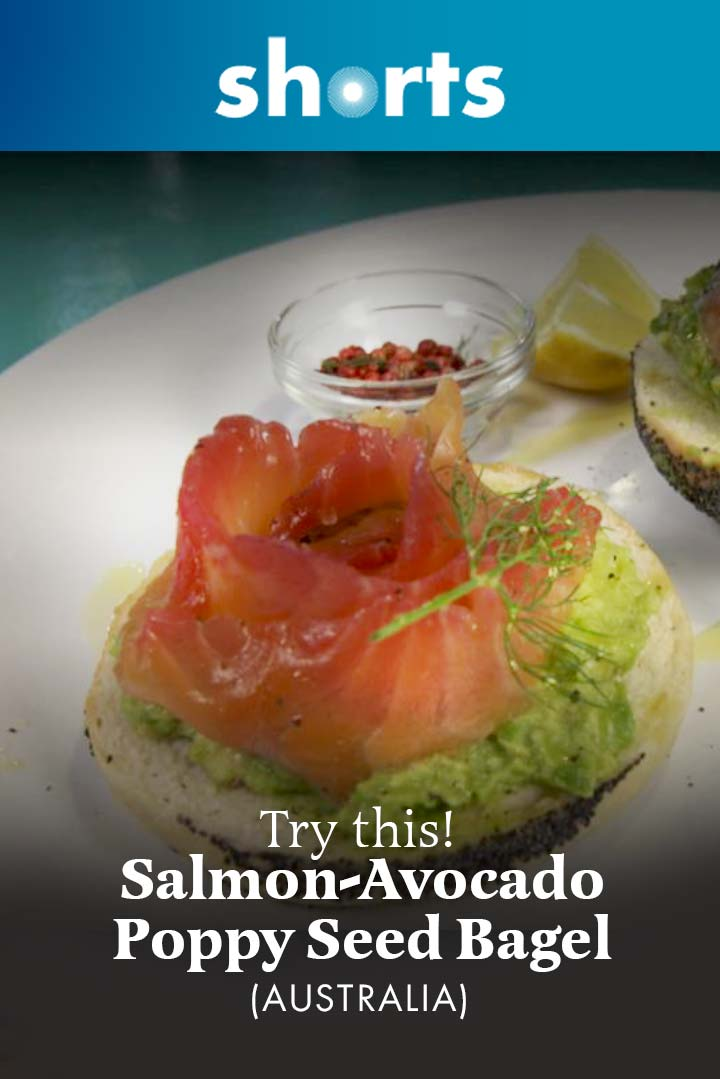 Try This! Salmon Avocado Poppy Seed Bagel, Australia