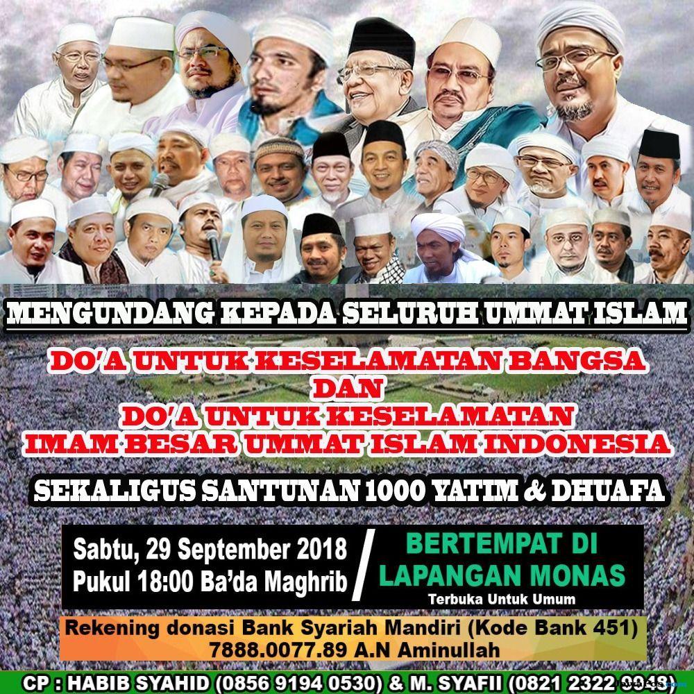 100 Ribu Umat Muslim Akan Doakan Keselamatan Bangsa dan Imam Besar